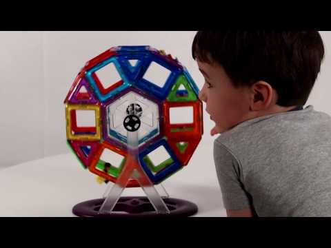 Magformers: Carnival Set - Building a Farris Wheel! | Learning Adventures Kids Channel