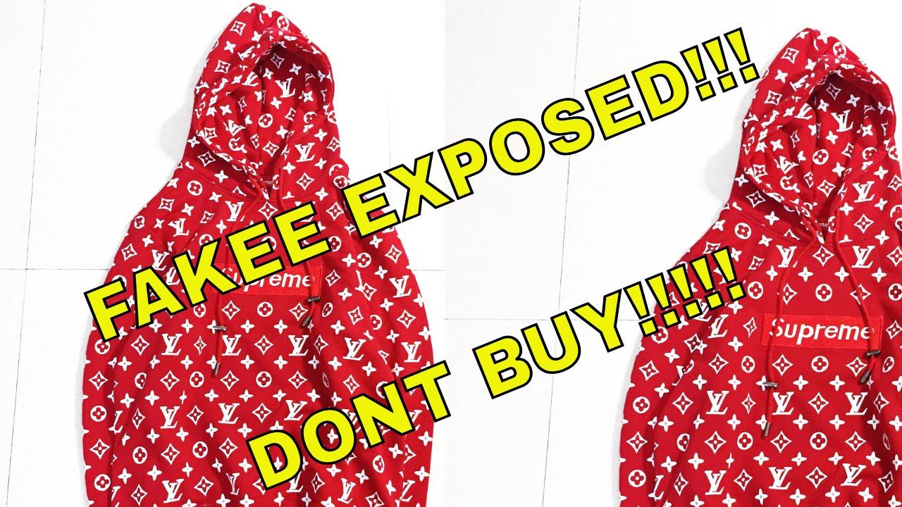 Exposing Fake Supreme X Louis Vuitton Hoodie Supreme X Louis Vuitton