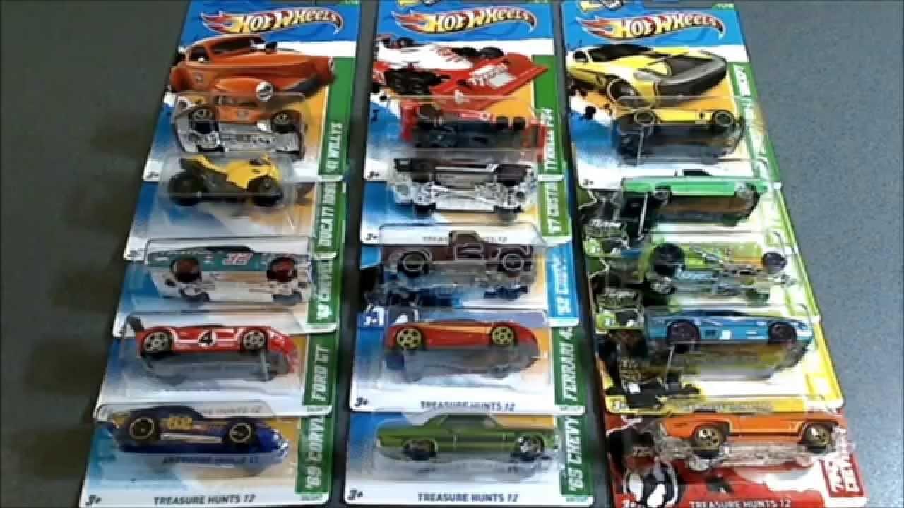 2012 hot wheels treasure hunts cars complete set - Hot Wheels Cars 2012
