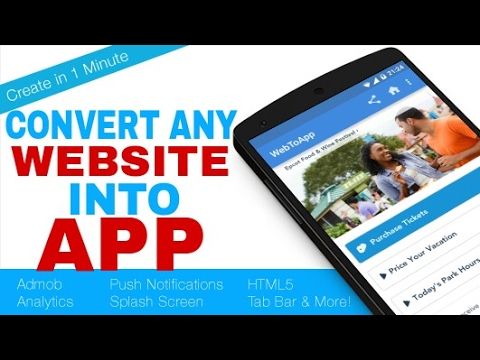 Convert Any Website Into A App || FREE || From Mobile