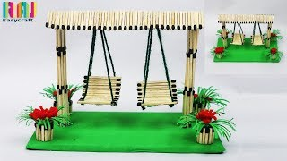 matchstick art and craft || matchstick Swing || easy craft