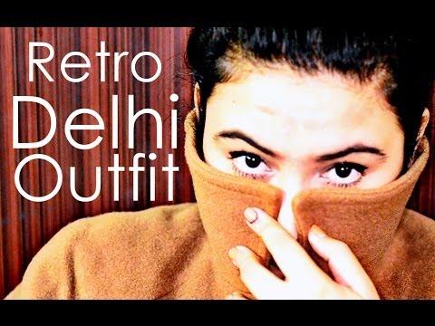 Indian Youtuber look book / Outfit ideas Winter fashion/RETRO {Delhi Fashion Blogger}