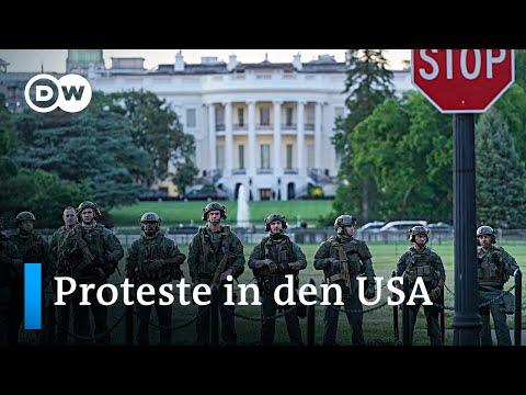 Proteste in den USA: Trump droht mit Mititäreinsatz | DW Nachrichten