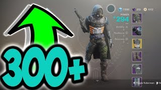 Destiny 2 HOW TO GET 300+ LIGHT EASY & FAST