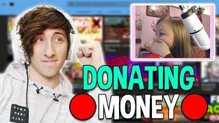 DONATING MONEY TO ROBLOX JAILBREAK STREAMERS LIVE!