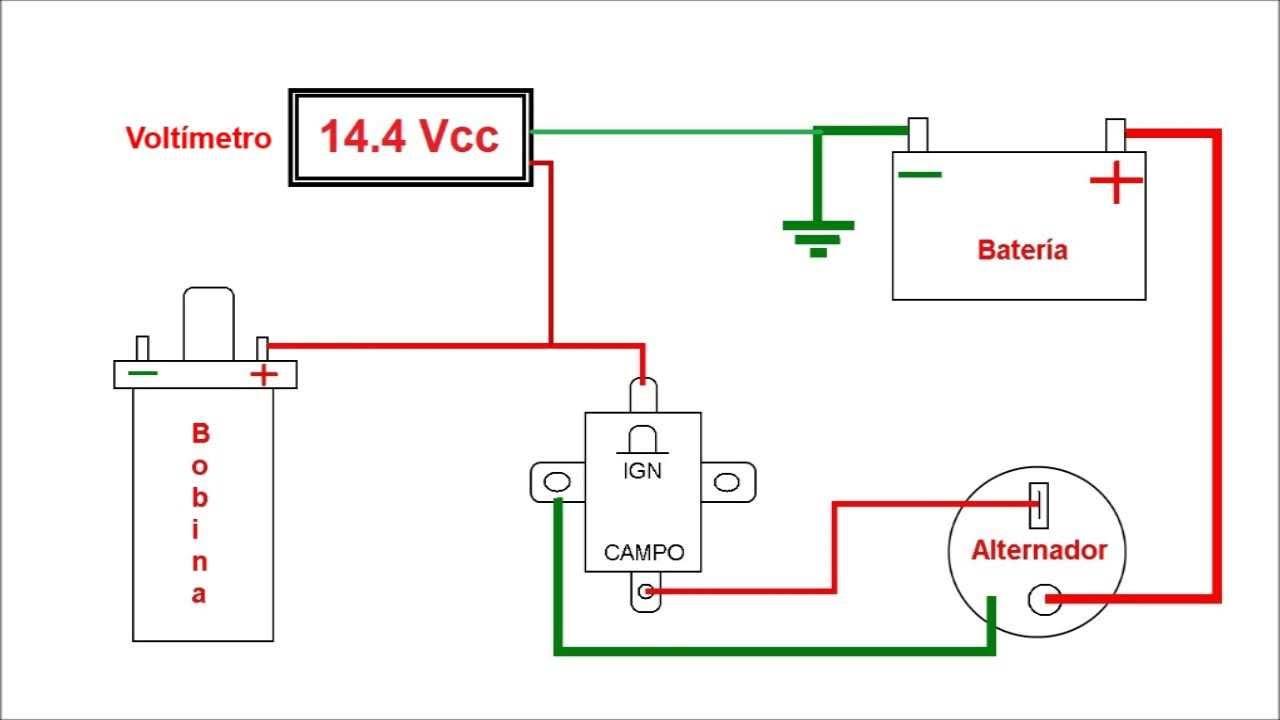 El Falcon Wiring Diagram Blank Skeletal Conexión De Alternador Indiel Y Regulador Universal - Youtube