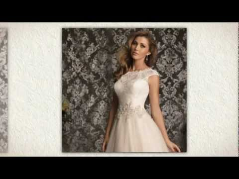 9ed61e02e66c3 Allure Bridal 9022 Wedding Dress - YouTube