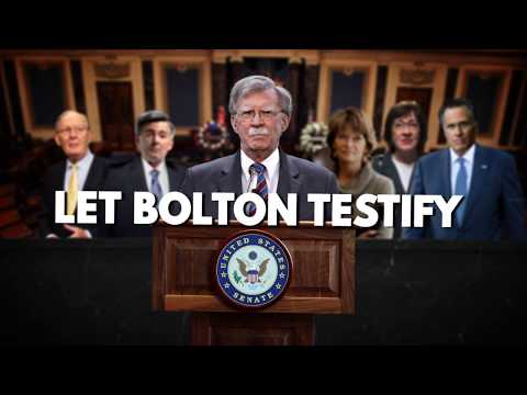 Republicans must let Bolton testify.