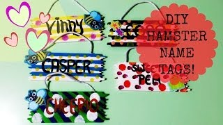 DIY Hamster Cage Name Tags! Thumbnail