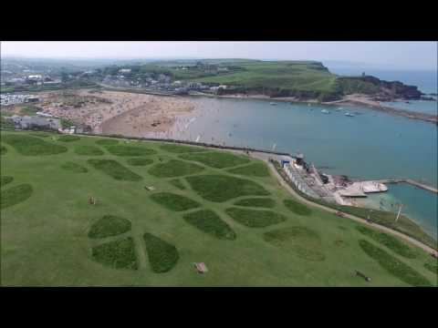Darren's Drone (DJI Phantom 3) over Bude, Cornwall.