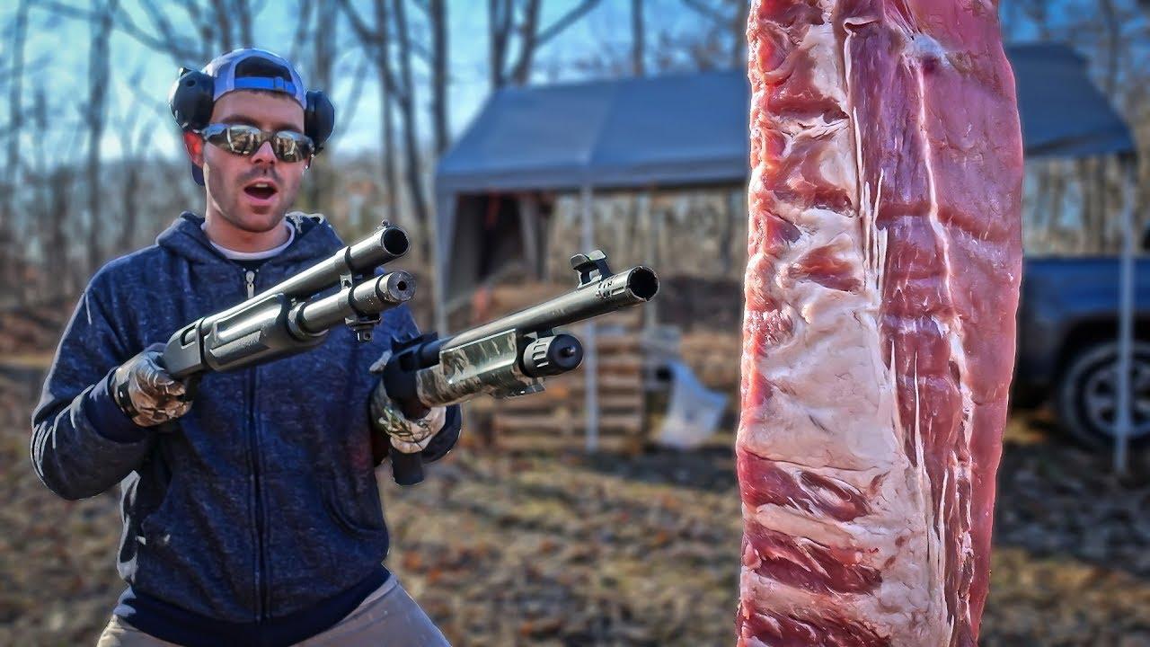 Download Shotguns vs MEAT & BONE! *12 Gauge vs 20 Gauge*