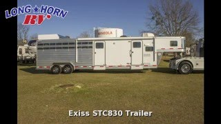 2013 Exiss STC830 Livestock Trailer LIVING QUARTERS, Horse Trailer, in Mineola, TX