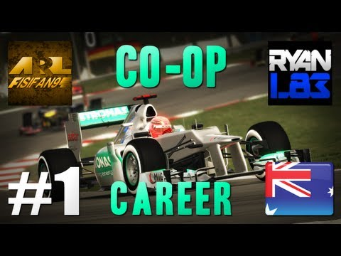 F1 2012 | Co-op Career: Part 1 - Australia Race (Live Commentary w/ RyanL83)