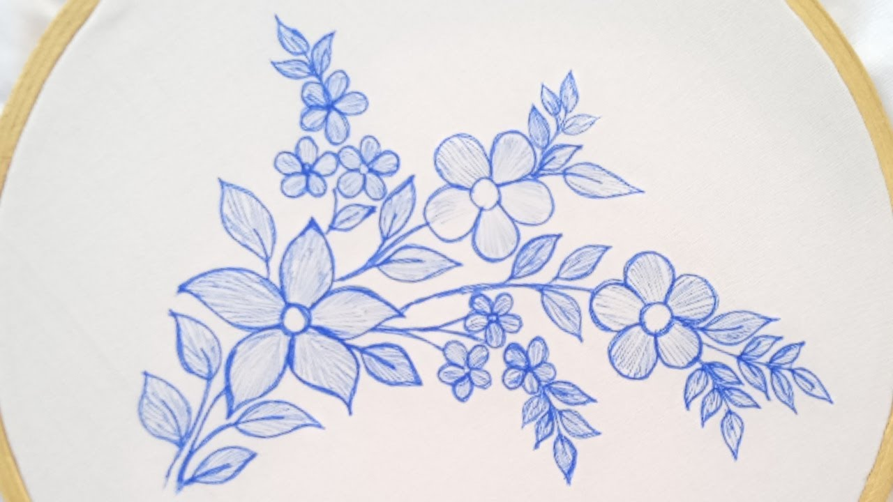 Beautiful hand embroidery work_Easy hand embroidery flowers design_bordado a mano hermosas flores