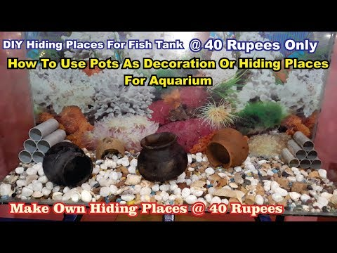 DIY Fish Caves #using Clay Pots In Aquarium #Aquarium Hiding Place