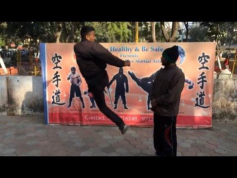 Download Jump Round kick tutorial   tiger   stunt   kick on men hight  