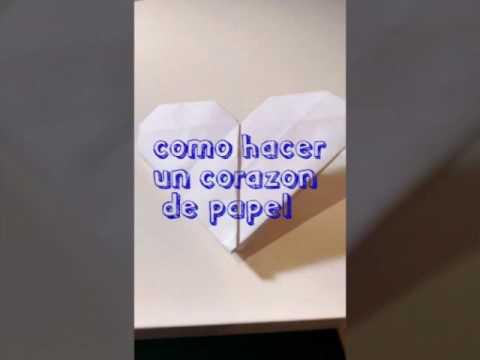 Papercraft Como hacer un corazón de origami facil