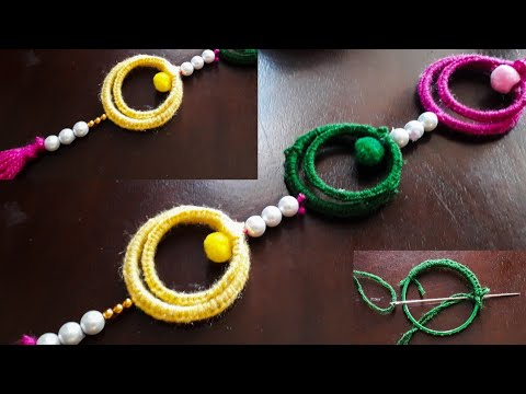 Unique Style Old Bangles & Wool Toran/Door Hanging/ Best Home Decoration ideas Quicky Crafts