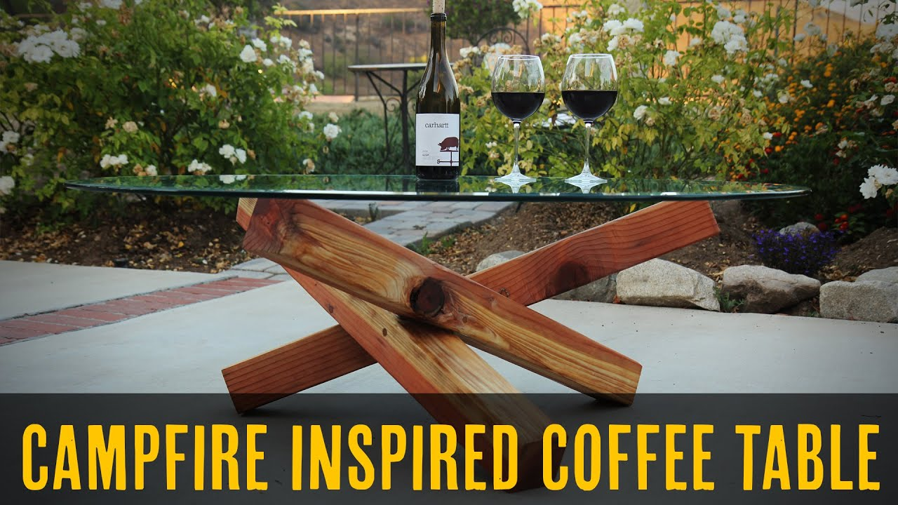 Campfire Coffee Table DIY Project Build Inspired Series YouTube
