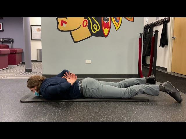 Reverse Snow Angels with Scapula Reach