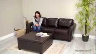 Corbett Coffee Table Storage Ottoman - Square - Product Review Video