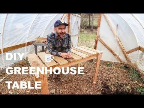 DIY Greenhouse TABLE