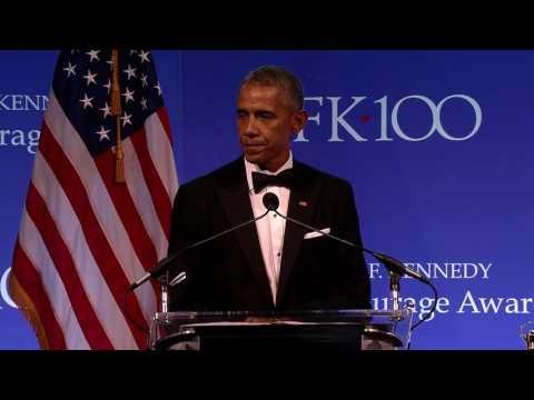 President Obama on JFKs political courage