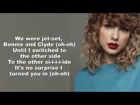 Taylor Swift - Getaway Car (Lyrics Video) by Kada