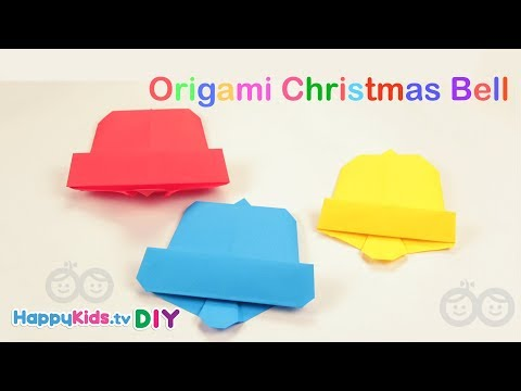 Origami Christmas Bell | Kid's Crafts and Activities | Happykids DIY