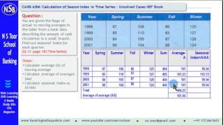 CAIIB-ABM-Case Study on Seasonal Index in Time Series