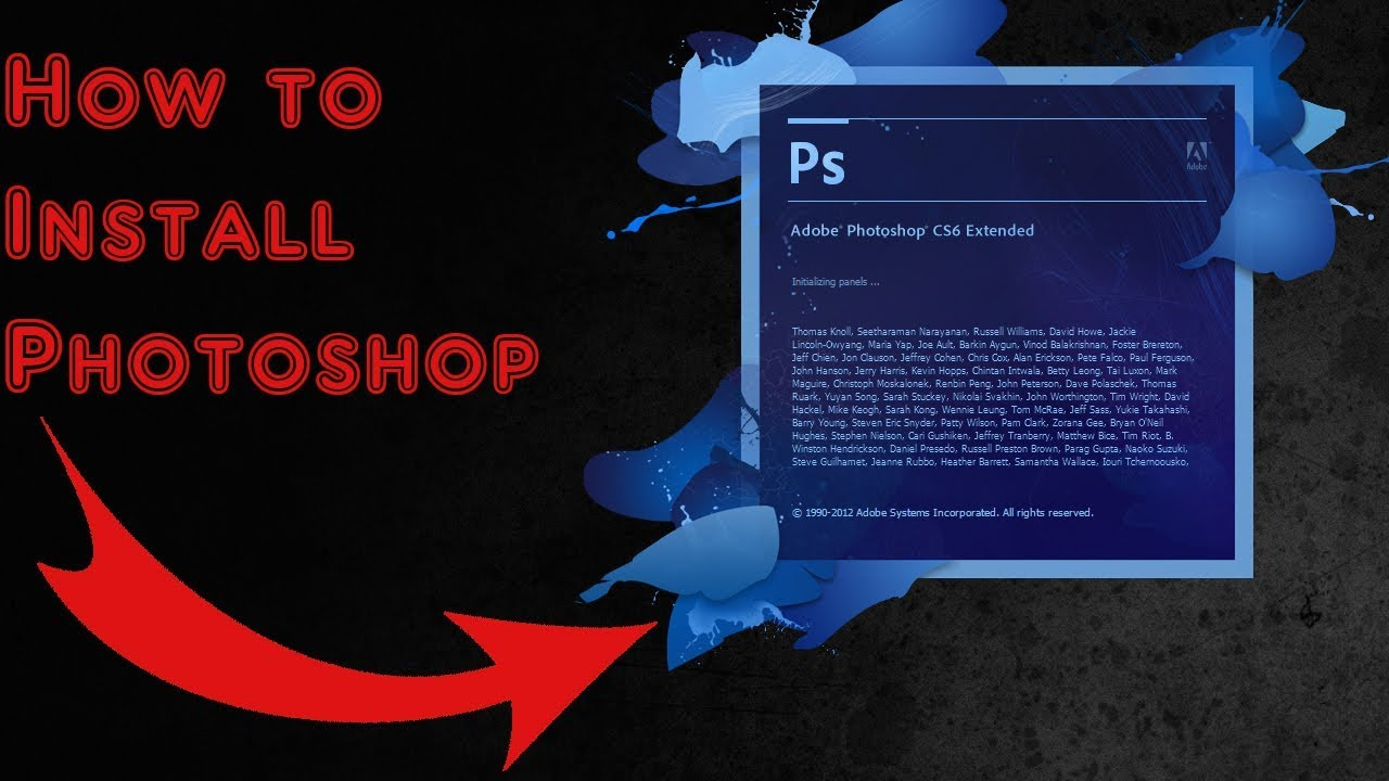 How to install photoshop cs6 for free windows 7