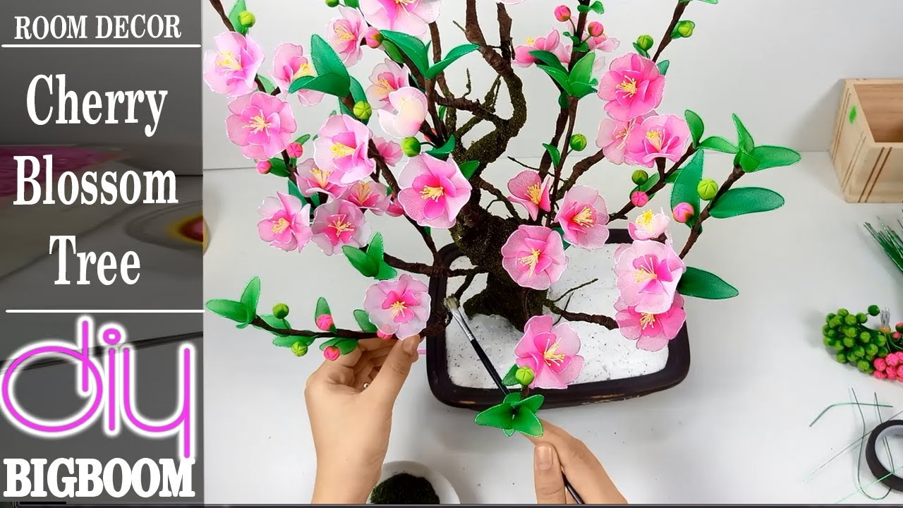 How To Make Cherry Blossom Tree Room Decor Of New Year 2018 Diy Boom