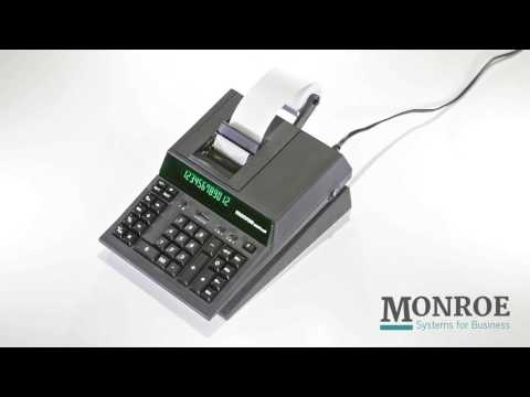 Monroe 2020PLUS III Black calculator - advanced medium-duty two-color printing commercial calculator from YouTube · Duration:  1 minutes 9 seconds