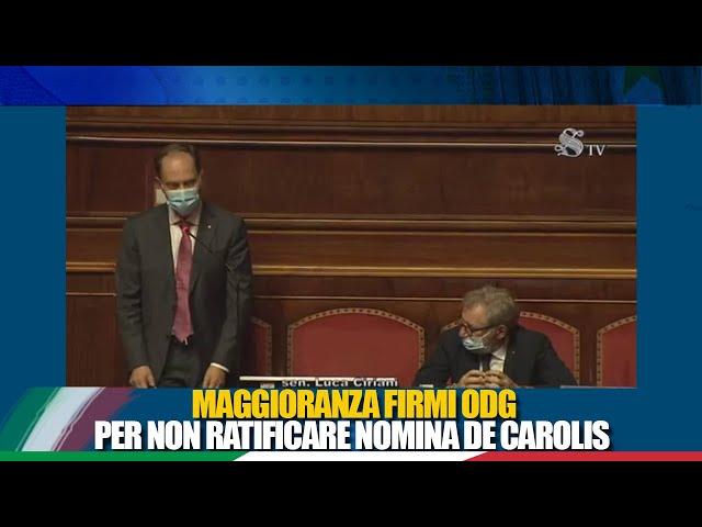 Il Senatore Ciriani interviene sull'ordine dei lavori