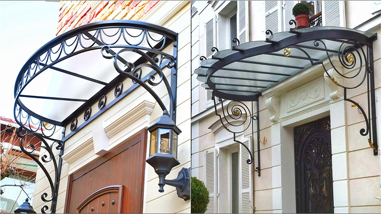 Download Metal Awning Design ideas for your front door & window canopy ideas 2021   Wrought iron awning