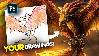 Photoshopping YOUR Drawings! | Realistified! S1E6