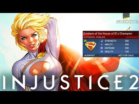"""749 Damage Combo With Legendary Power Girl - Injustice 2 """"Power Girl"""" Legendary Gear Gameplay"""