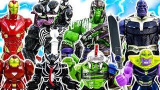 LEGO Avengers Infinity War HULK vs Thanos~ IRONMAN Defeat Venom & Venomized Squad #Toymarvel