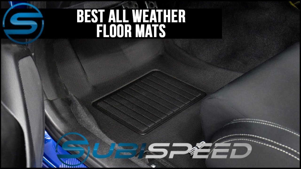 item rubber all set pair black floor p s front mats weather oem audi