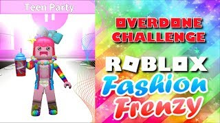 Overdoing It Challenge⭐Roblox Fashion Frenzy NEW UPDATE⭐SallyGreenGamer Geegee92 Family Friendly