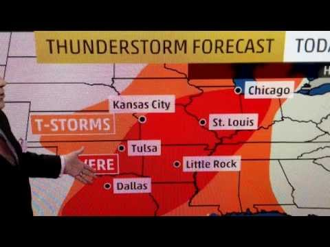 """Extreme Weather Alert"" Thunderstorms Tornados Predicted"
