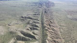 The Earthquake maker, San Andreas Fault shot from drone