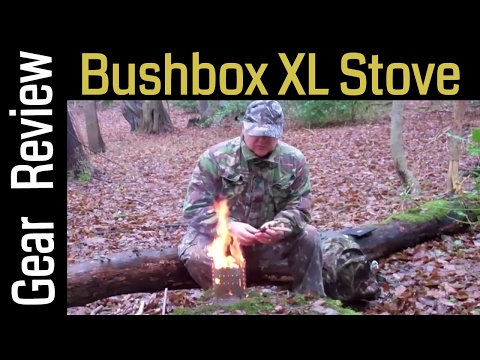 BushBox XL Outdoor Survival Stove - Camping Stove Review - Backpacking Cooker by Bushbox Essentials