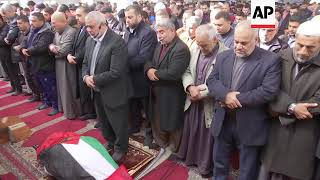 Funeral for Palestinian woman shot by Israelis