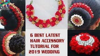 DIY/Tutorial for 6 best Indian wedding hair accessory 2019