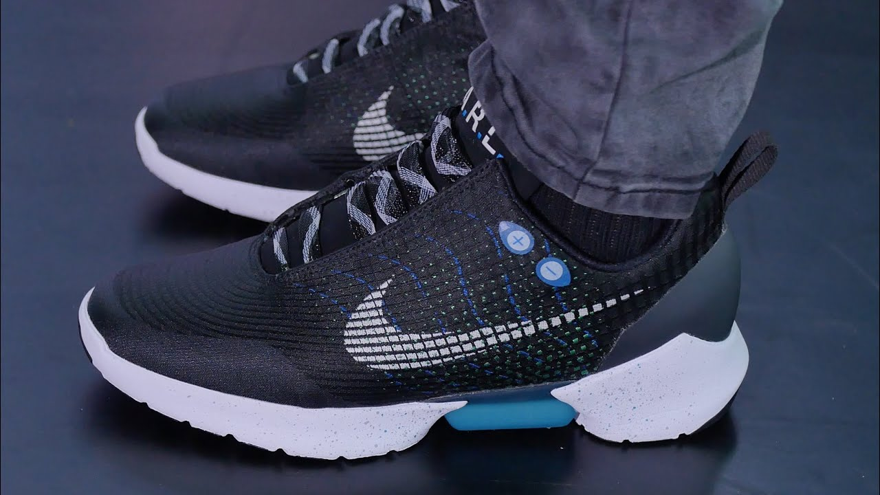 new style ab0ca 38248 First Look: Nike's POWER-LACING Shoe - Nike HyperAdapt 1.0 - YouTube