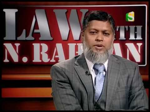 24 September 2016, Law with N Rahman, Part 3