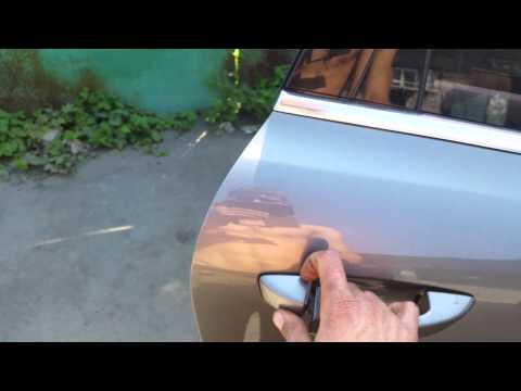 Как  снимается  ручка  на фольксваген TOUAREG