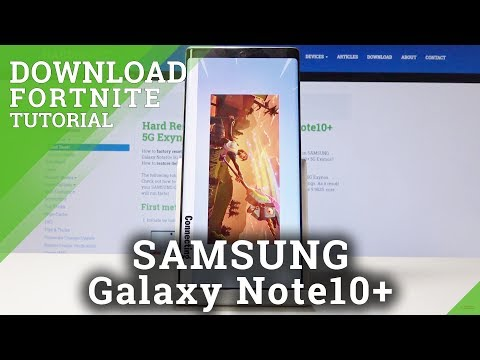 How to Install Fortnite in SAMSUNG Galaxy Note10+ - Download Fortnite
