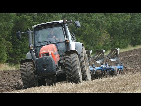 Same Iron 120 Ploughing The Field w/ 5-Furrow Lemken Plough | Pure Power | Danish Agriculture